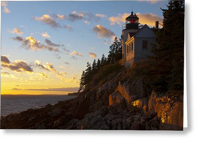 Bass At Sunset Greeting Card by Paul Miller