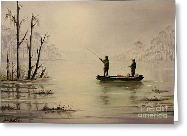 Bass Fishing In Florida Greeting Card by Bill Holkham