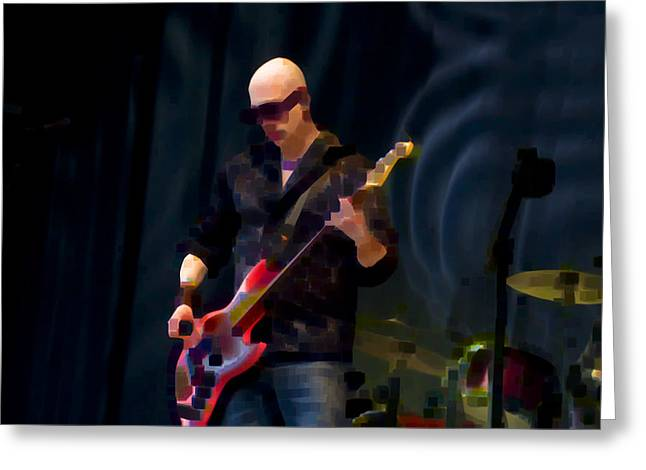 Bass  Guitar Greeting Card by Tony Reddington