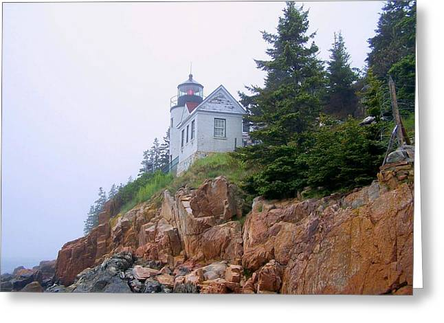 Bass Harbor Head Light Greeting Card