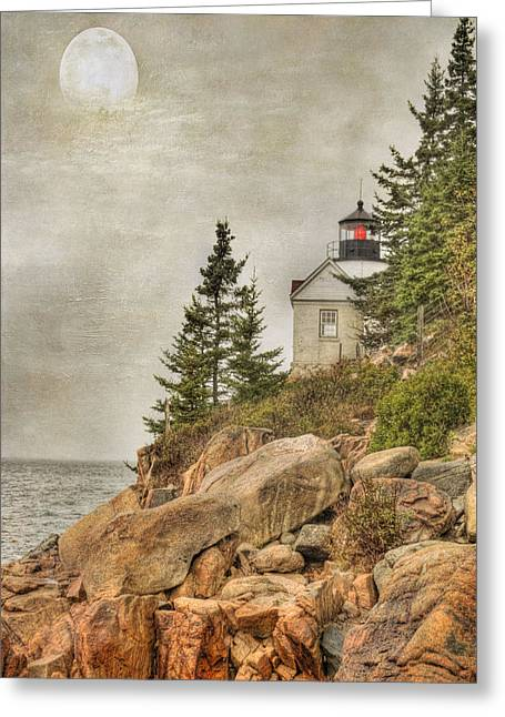 Bass Harbor Head Lighthouse. Acadia National Park Greeting Card by Juli Scalzi