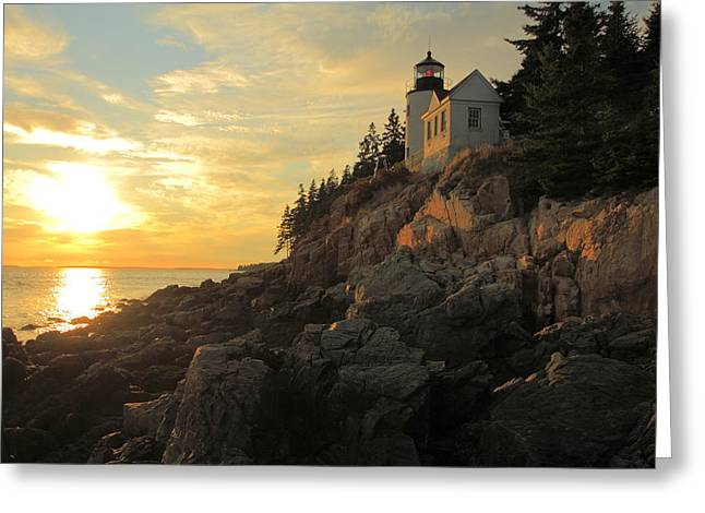 Bass Harbor Head Lighthouse Maine Usa Greeting Card