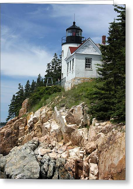 Bass Harbor Light Greeting Card by Acadia Photography