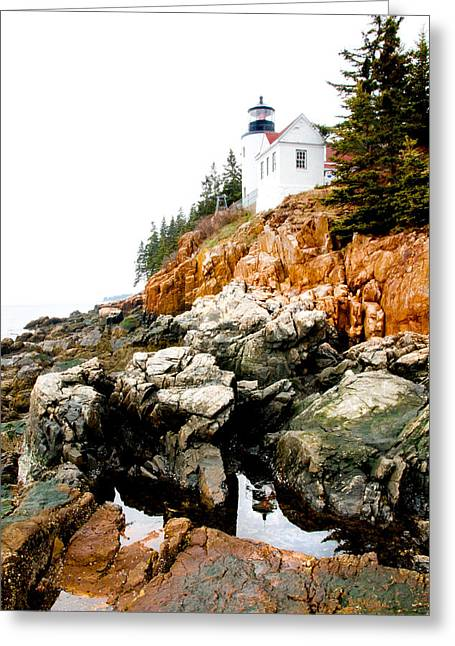 Bass Island Light Greeting Card by Greg Fortier