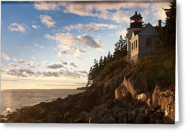 Greeting Card featuring the photograph Bass Lighthouse by Paul Miller