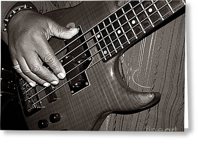 Bass Man  Greeting Card by Chris Berry
