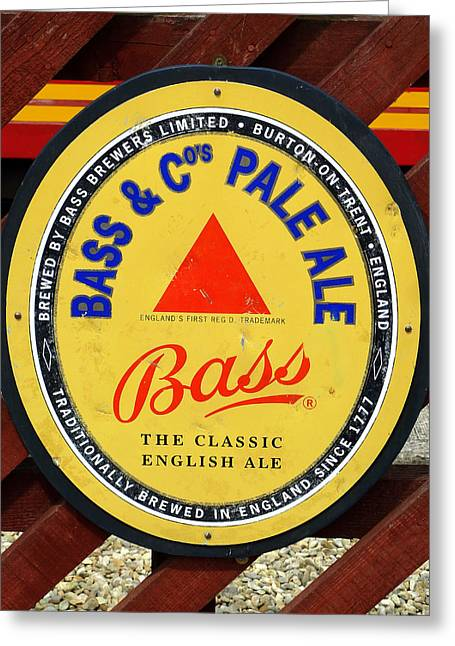 Bass Pale Ale Railway Sign Greeting Card