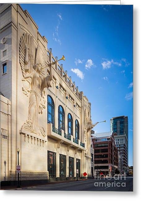 Bass Performance Hall Greeting Card by Inge Johnsson