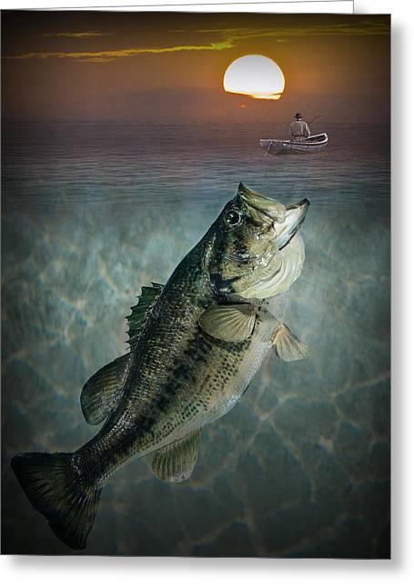 Bass Revenge Greeting Card