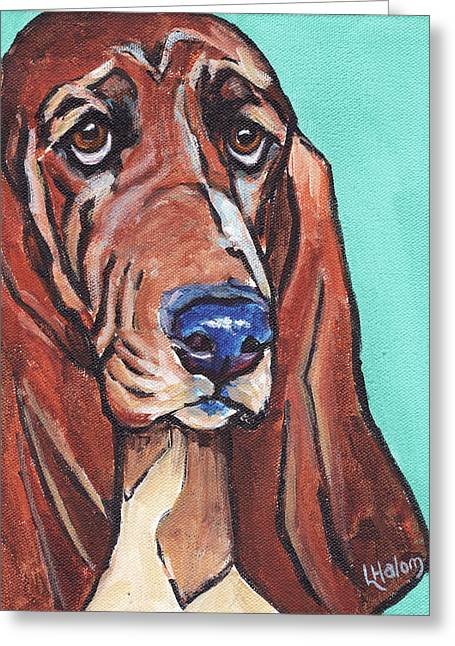 Basset II Greeting Card