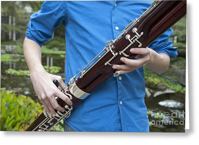 Bassoon Player Greeting Card by Jim West