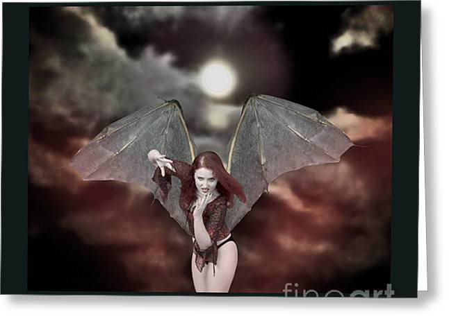 Bat-winged Beauty  Greeting Card by Andrew Govan Dantzler