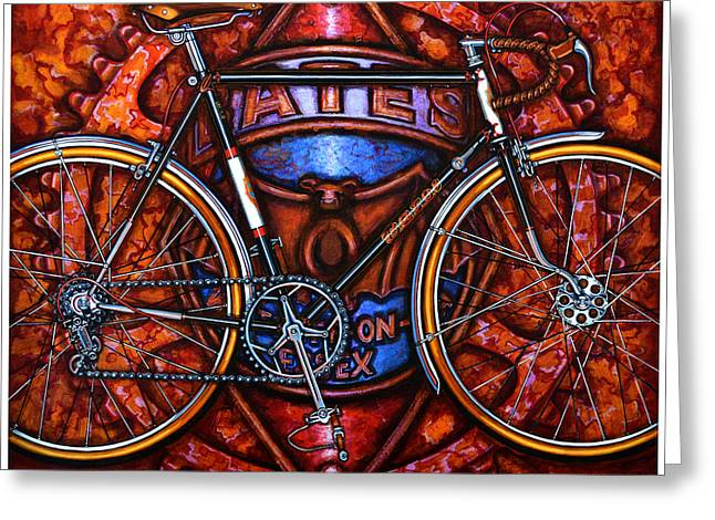 Bates Bicycle Greeting Card by Mark Jones