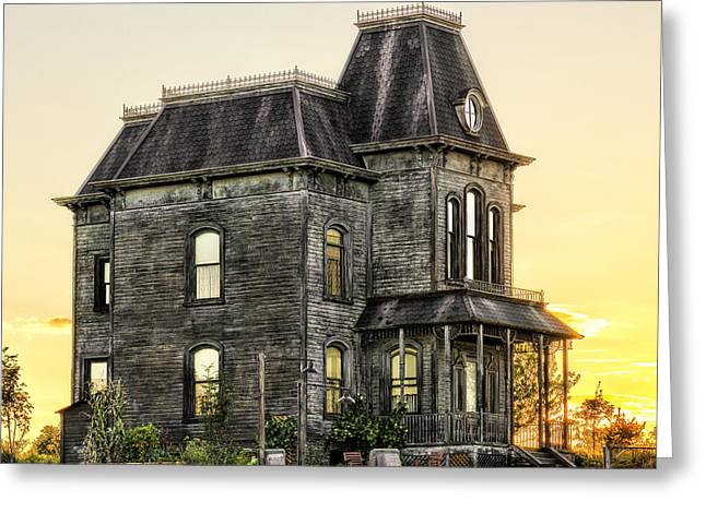 Bates Motel Haunted House Greeting Card by Paul W Sharpe Aka Wizard of Wonders