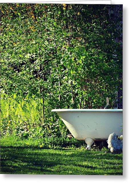 Bath And Beyond Greeting Card by Cyryn Fyrcyd