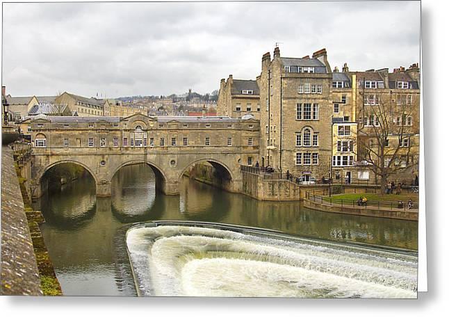 Bath England Spillway Greeting Card by Mike McGlothlen