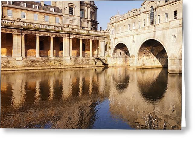 Bath Pulteney Bridge And Colonnade Bath Greeting Card