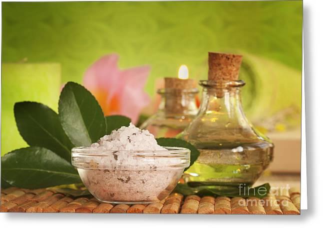 Bath Salt Greeting Card by Mythja  Photography