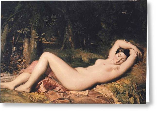 Bather Greeting Card by Theodore Chasseriau
