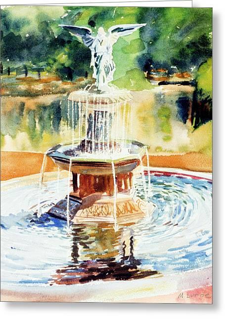 Bathesda Fountain Greeting Card