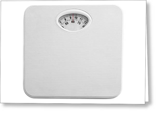 Bathroom Scales Greeting Card by Science Photo Library