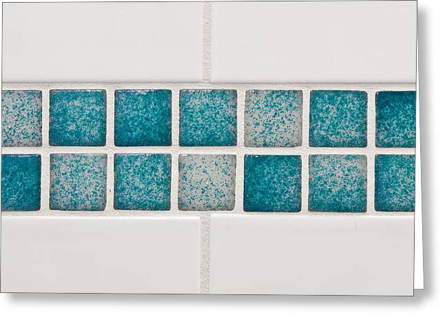 Bathroom Tiles Greeting Card