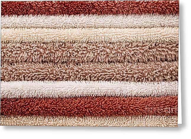 Bathroom Towels Neutral Colours Greeting Card