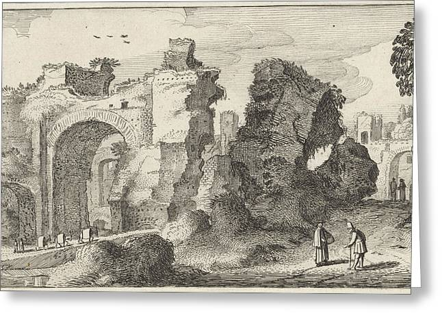 Baths Of Caracalla In Rome, Jan Van De Velde II Greeting Card