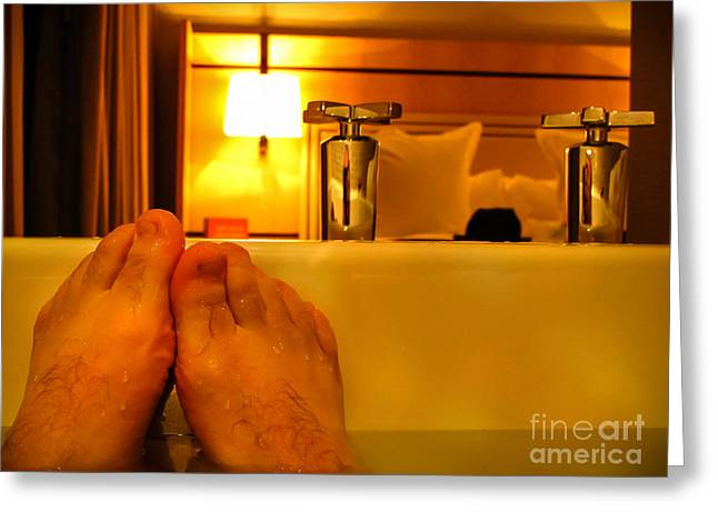 Bathtub Fun Greeting Card by Kip Krause