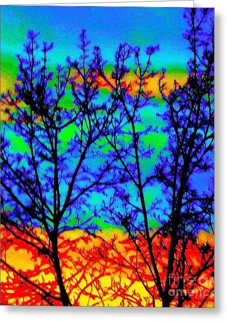 Batik By Design Greeting Card by Ann Johndro-Collins