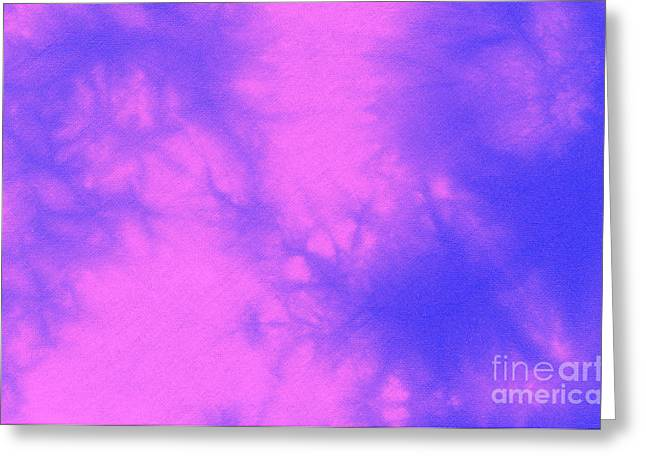 Batik In Purple And Pink Greeting Card by Kerstin Ivarsson