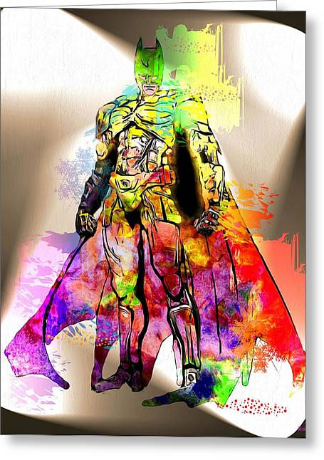 Batman Grunge Greeting Card