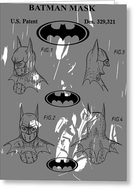 Batman Patent Poster Greeting Card by Dan Sproul