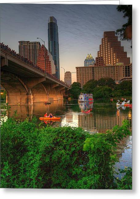 Bats Going Out For Dinner In Austin Greeting Card