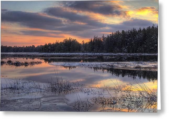Batsto Lake Sunset 2 Greeting Card