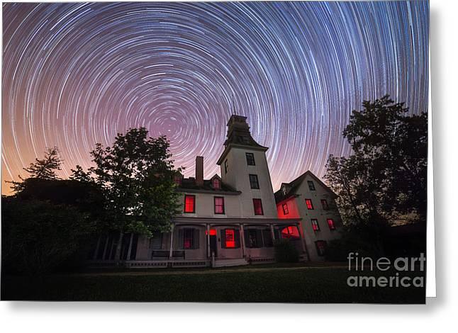 Batsto Mansion Star Trails Greeting Card