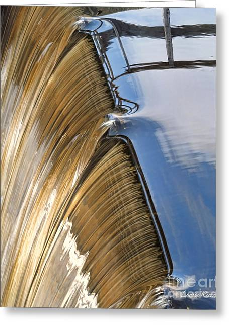 Batsto Waterfall Greeting Card by Louise Reeves
