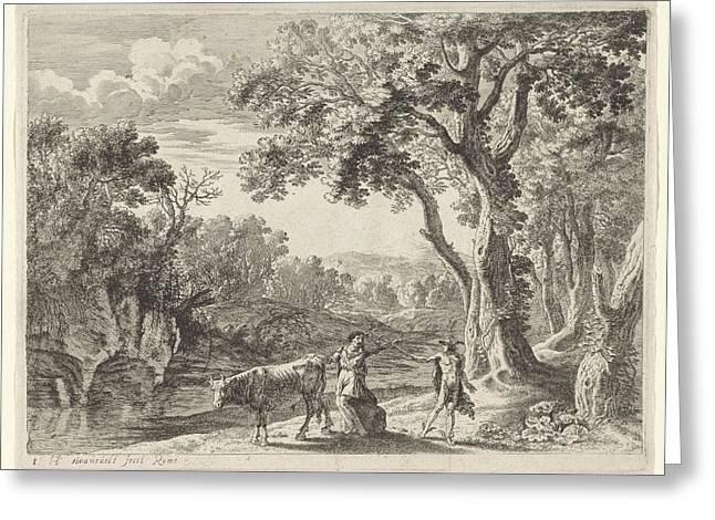 Batt Mercury Turns Into Stone, Herman Van Swanevelt Greeting Card by Herman Van Swanevelt