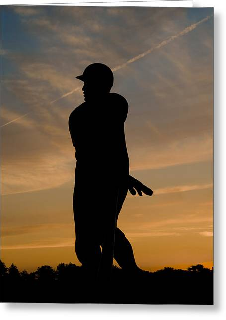 Batter At Dawn - Phillies Greeting Card by Bill Cannon
