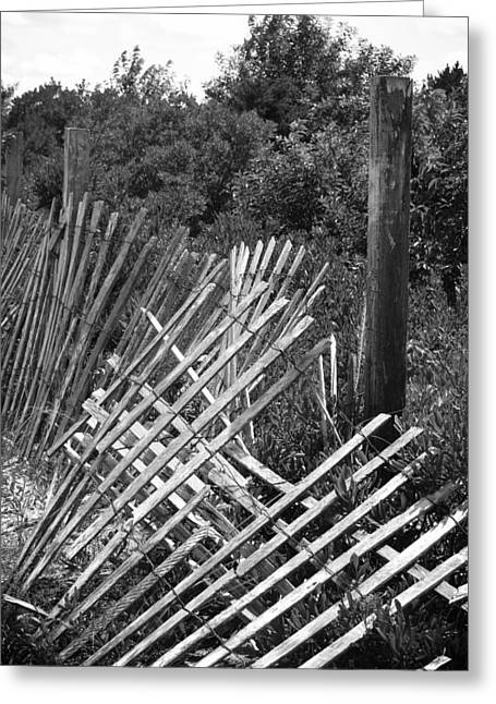 Battered Fence Greeting Card