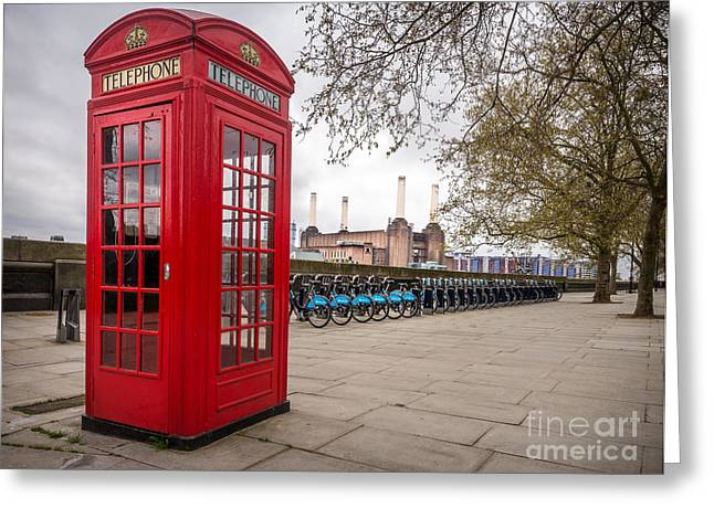 Battersea Phone Box Greeting Card