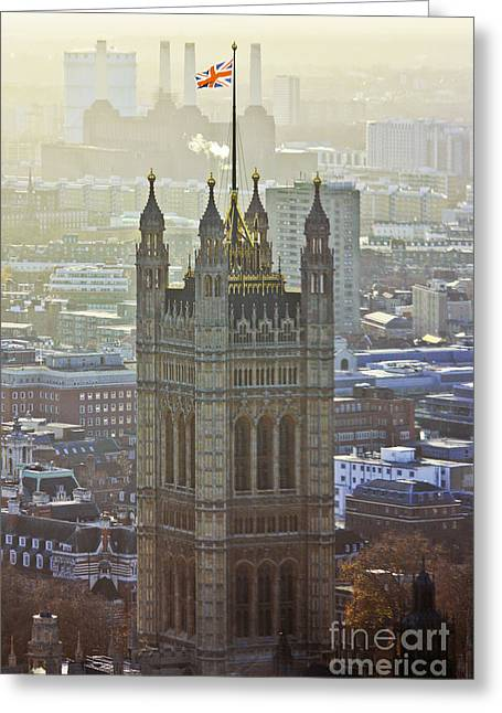 Battersea Power Station And Victoria Tower London Greeting Card