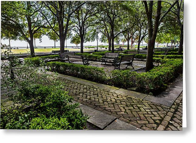 Greeting Card featuring the photograph Battery Park by Sennie Pierson