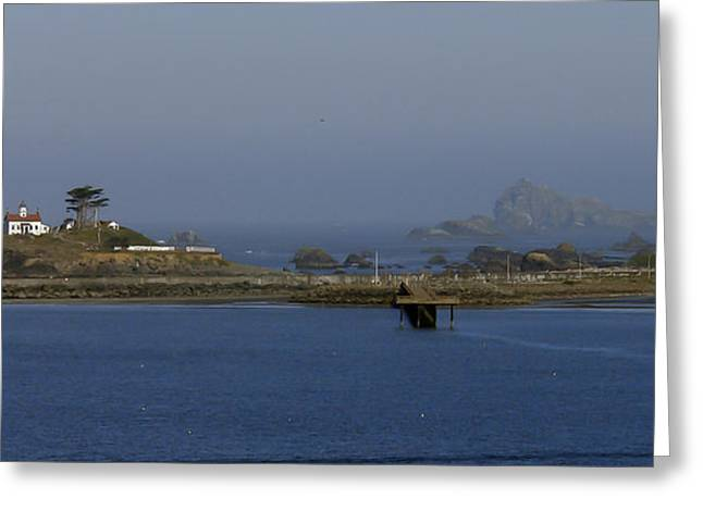 Battery Point Lighthouse And Castle Rock Greeting Card