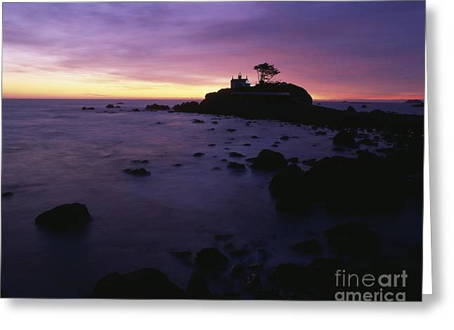 Battery Point Lighthouse At Sunset Greeting Card