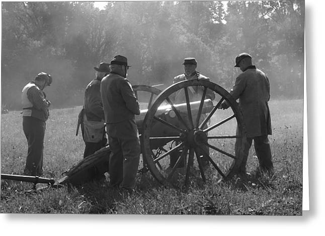 Battery Preparing For Action - Perryville Ky Greeting Card by Thia Stover