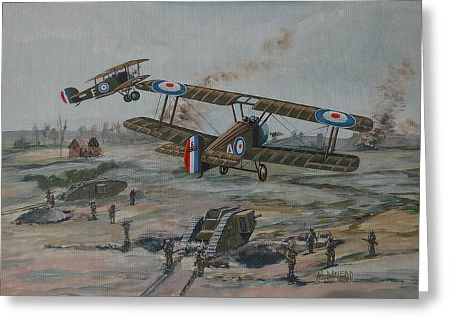 Battle Of Amiens Greeting Card by Murray McLeod