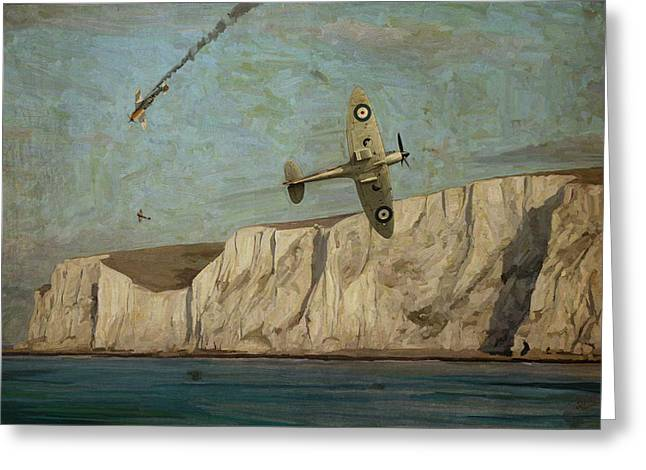 Battle Of Britain Over Dover Greeting Card by Nop Briex