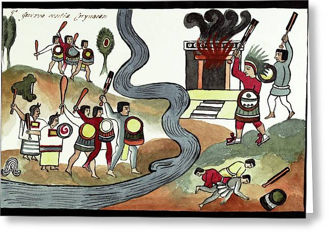 Battle Of Coyoacan Greeting Card by Library Of Congress
