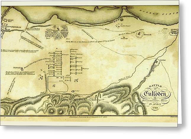 Battle Of Culloden, 1746 Greeting Card